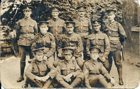 Serjeants of the 3rd Battalion the Yorkshire Regiment, - June 1917