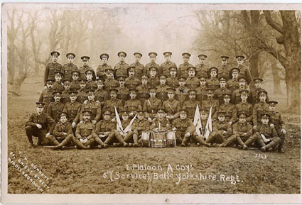 Soldiers of the 6th Battalion the Yorkshire Regiment (No 2 Platoon), - date unknown
