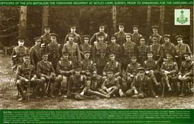 Officers of the 6th Battalion the Yorkshire Regiment, - 1915