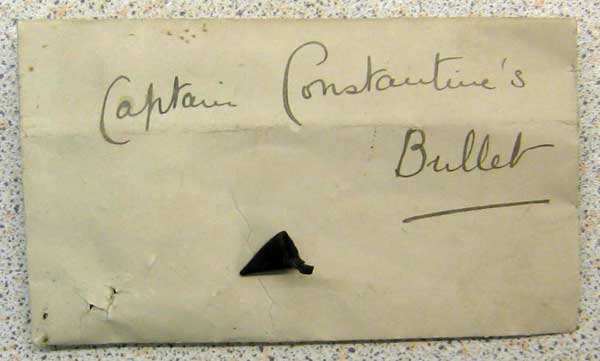 the bullet that allegedly cost Captain Constantine his life
