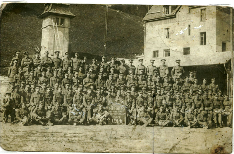 POW Interment Camp Mirran, Switzerland with survivors of the 1914 B.E.F