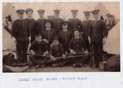 Soldiers of the 7th Battalion the Yorkshire Regiment, - Wareham Camp (late 1914)