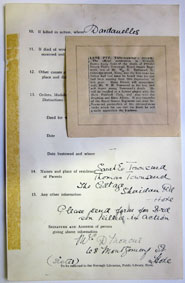 The photos of correspondence to Hove Library in connection with commemoration of Leonard Townsend