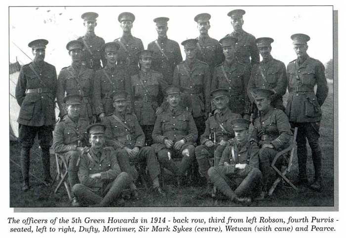 A Photograph of Sir Mark Sykes and the 5th Battalion