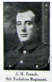 Private John Henry FRENCH. 11015.