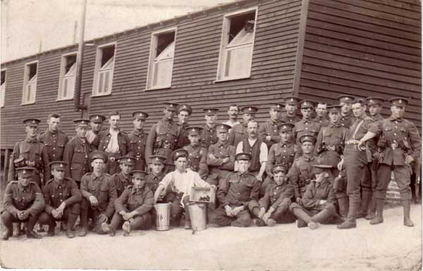 Soldiers of the Yorkshire Regiment with whom Pte Stansfield served.