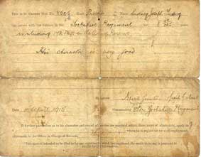 Sidney Young's Discharge Papers