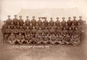 """A"" Company of the 4th Battalion, taken at Camp in Scarborough in 1920."