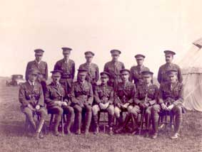 A group of 4th Battalion Officers taken after the First World War, but date unknown.