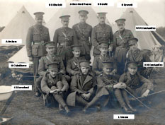 A group of 4th Battalion Officers taken before the First World War, but date unknown.