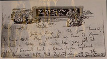 A postcard from William to his mother