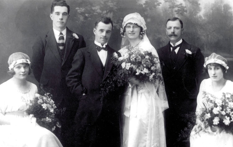 Wilfred Whitfield and his Wife Elsie at their Marriage in June 1932.