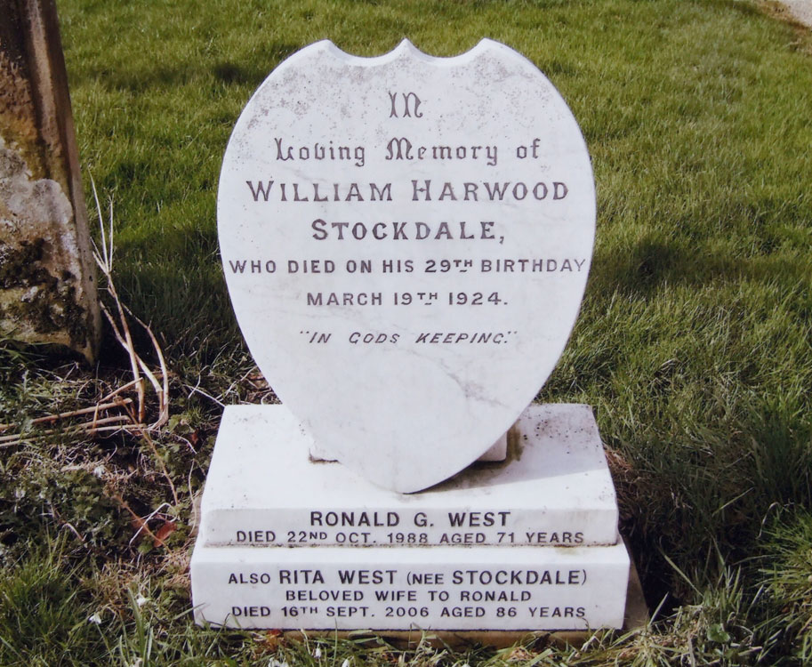 William Stockdale's Grave in All Saints' churchyard, Ingleby Arncliffe
