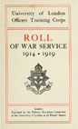 London University Roll of War Service