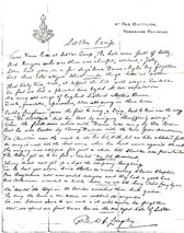 Poem written by Private Langley describing Christmas at Scotton Camp, 1916