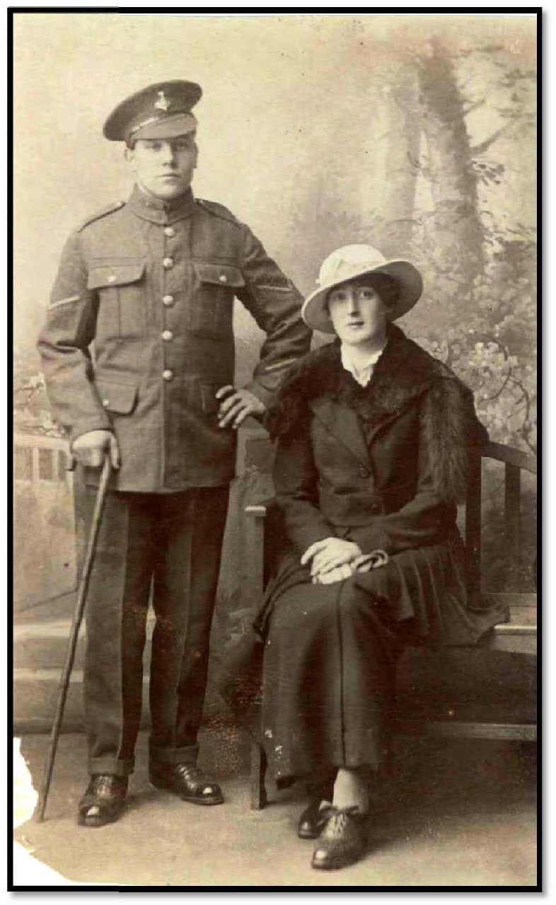 Lance Corporal Henry George Sumpter and Ethel Agnes, ca 1918